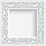Square paper frame Stock Image