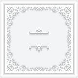 Square paper frame Stock Images