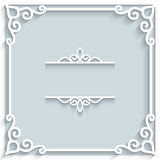 Square paper frame Royalty Free Stock Photos