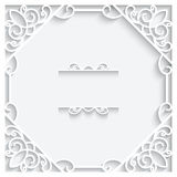 Square paper frame Stock Photo