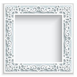 Square paper frame Stock Photos