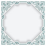 Square paper frame Royalty Free Stock Images