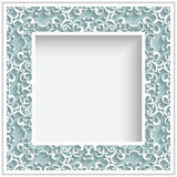 Square paper lace frame Stock Photo