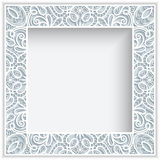 Square paper lace frame Stock Photos