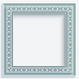 Square paper lace frame Royalty Free Stock Photography