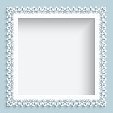 Square paper lace frame Stock Photography