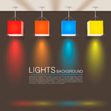 Square paper lamps Royalty Free Stock Photography