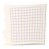 Square paper for math icon Stock Photos
