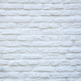 Square part of white washed wall Royalty Free Stock Photography