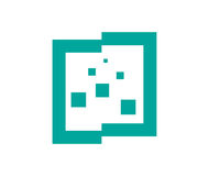 Square Particulate Icon Stock Images