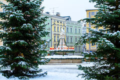 Square in Passau Germany. Main Square in Passau, Germany, at Christmas Time Royalty Free Stock Images