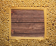 Square pasta frame on rustic wooden background. Square pasta frame on wooden background Royalty Free Stock Photography