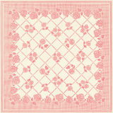 Square Patchwork Floral Wallpaper Design. Antique square pink and ivory patchwork floral wallpaper design royalty free stock photo