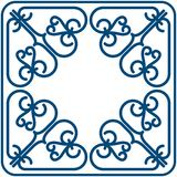 Square pattern. Decorative item for using corners and backgorunds Stock Image