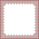 Square Pattern for embroidery Royalty Free Stock Image