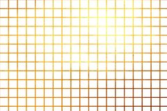 Square pattern golden shiny luxury gradient creative abstract background. Design element. Shiny golden grid pattern on white background for print and design Royalty Free Stock Image