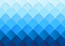 Square pattern gradient blue color background, vector Stock Photo
