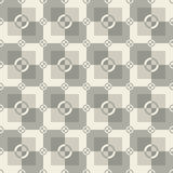 Square pattern in gray and white colors. Circle-squares vector seamless pattern in gray and white colors Stock Photography
