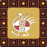 Pattern with imitation of elements of rock art. A square pattern with imitation of elements of rock art of ancient Indians, Aztecs, cavemen Stock Photography