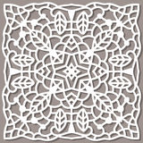 Square pattern for laser cutting. Ornament can be used for Stock Photos