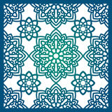 Square Pattern panel for laser cutting with mandalas. Stock Photos