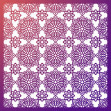Square Pattern panel for laser cutting with mandalas. Royalty Free Stock Photo