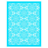 Square Pattern panel for laser cutting with mandalas. Stock Photo