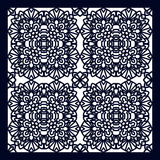 Square Pattern panel for laser cutting with mandalas. Stock Photography