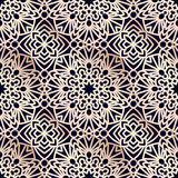 Square Pattern panel for laser cutting with mandalas. Royalty Free Stock Image