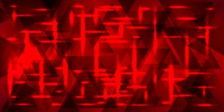 A square pattern of rectangles of red color against a black back vector illustration