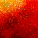 Square pattern in red and orange colors. EPS 10 Royalty Free Stock Photography