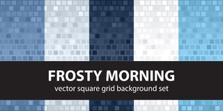 Square pattern set Frosty Morning. Vector seamless tile backgrou Stock Photo