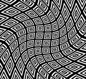 Square pattern with swirling distortion effect. Spiral, twirl, s Stock Photography