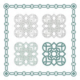 Square patterns-Celtic knot style Royalty Free Stock Image