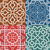 Square patterns-Celtic knot style Royalty Free Stock Photo