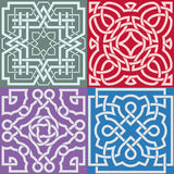 Square patterns-Celtic knot style Stock Images