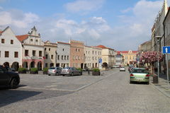 Square of peace in Slavonice Stock Photography