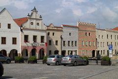 Square of peace in Slavonice Stock Image
