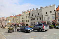 Square of peace in Slavonice Royalty Free Stock Image