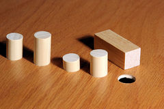Square Peg Stock Photo