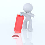 Square Peg in a round hole Stock Images