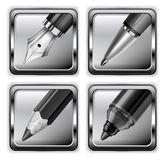 Square pen icons Stock Image