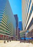 Square in Penn Center and skyline in Philadelphia PA Royalty Free Stock Photo