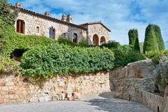 Square in Peratallada, Spain Royalty Free Stock Photography