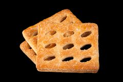 Square perforated cookie Royalty Free Stock Images