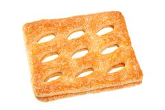 Square perforated cookie Royalty Free Stock Photography