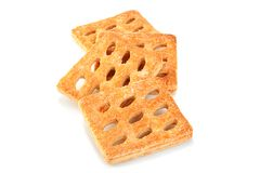 Square perforated cookie Royalty Free Stock Photo