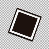 Square photo frame on isolated background. Vector illustration Royalty Free Stock Image