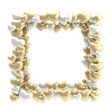 Square photo frame made of hearts isolated Stock Photo