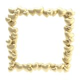Square photo frame made of hearts isolated Royalty Free Stock Photos